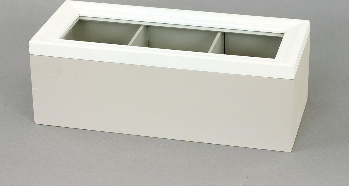 Krabička dřevěná na čajové sáčky 23x10x8cm Provedení: B