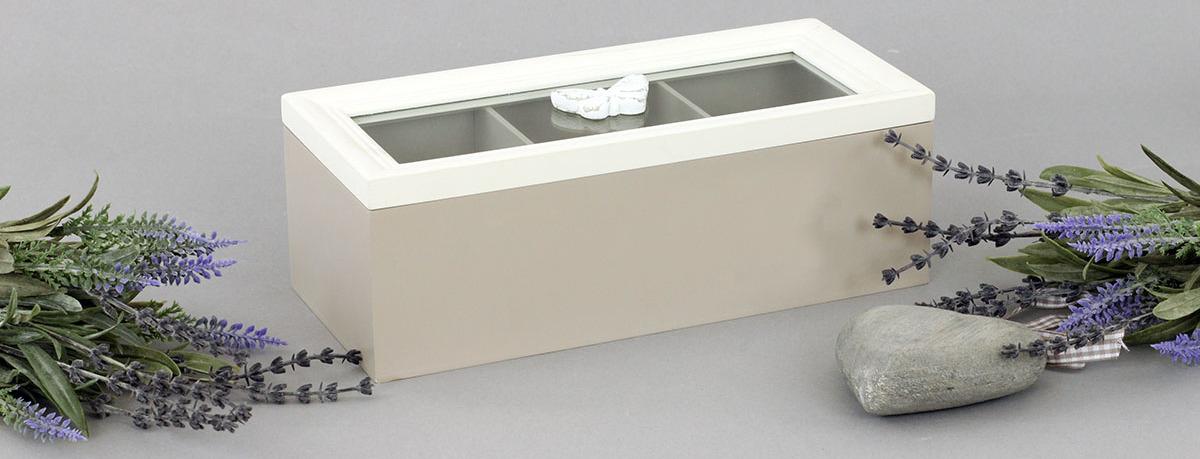 Krabička dřevěná na čajové sáčky 23x10x8cm Provedení: C