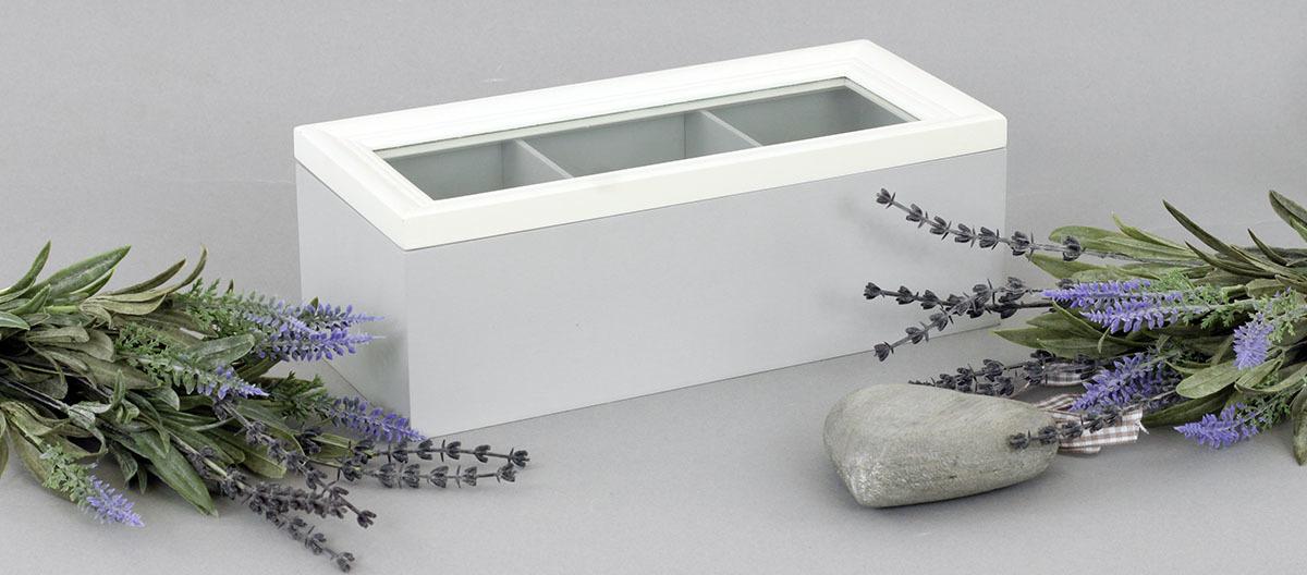 Krabička dřevěná na čajové sáčky 23x10x8cm Provedení: A