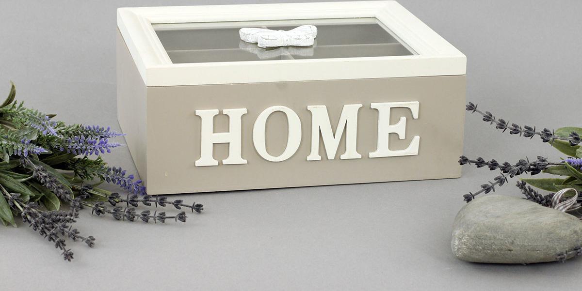 Krabička dřevěná na čajové sáčky 26x16x8cm Provedení: B