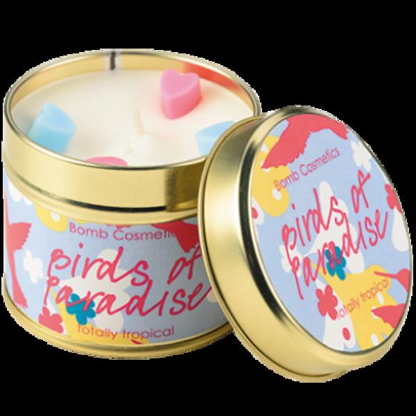B Cosmetics Svíčka v plechové dóze ptáci v ráji