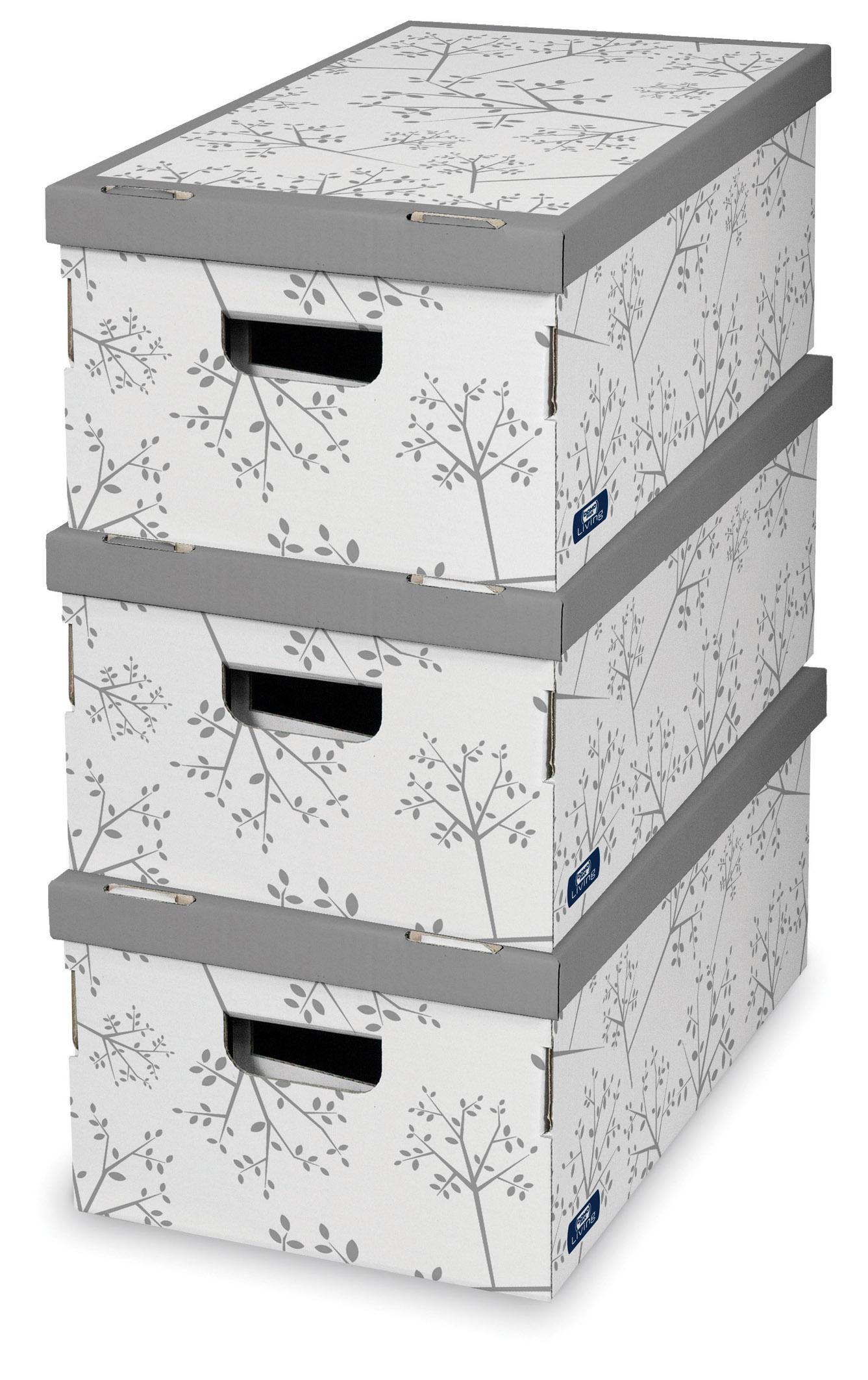 DOMOPAK Living Úložný box šedý set 3ks
