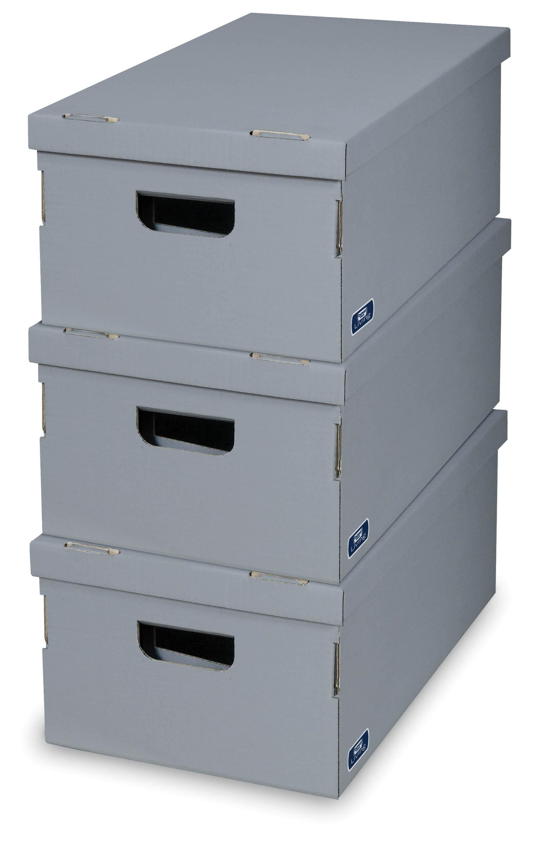 DOMOPAK Living Úložné boxy set 3ks Barva: šedá