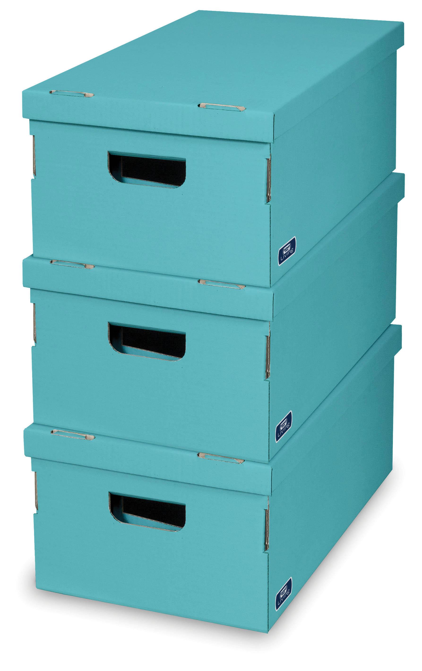 DOMOPAK Living Úložné boxy set 3ks Barva: modrá