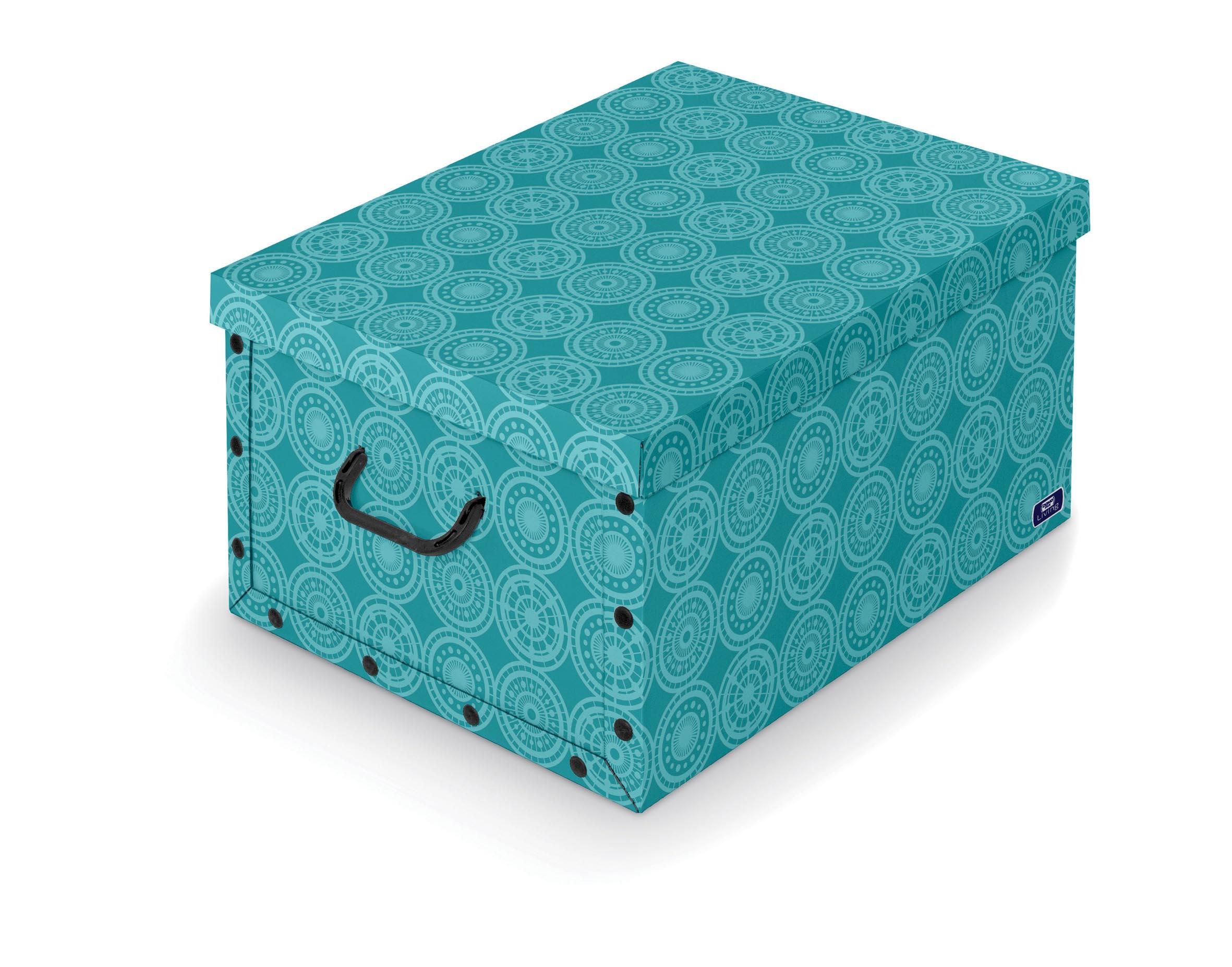 DOMOPAK Living Úložný box s rukojetí 39X50X24cm Barva: modrá