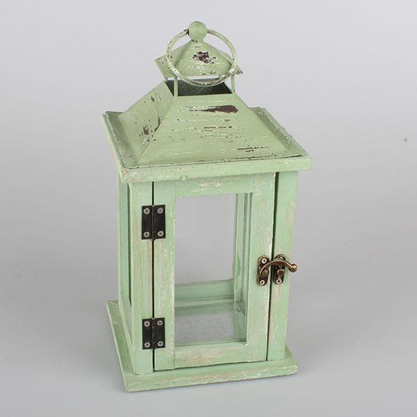 Casa de Engel Dřevěná lucerna zelená