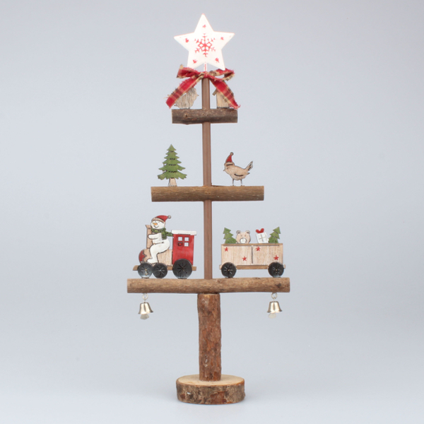 Casa de Engel Stromek vánoční dřevěný 20x44x9cm