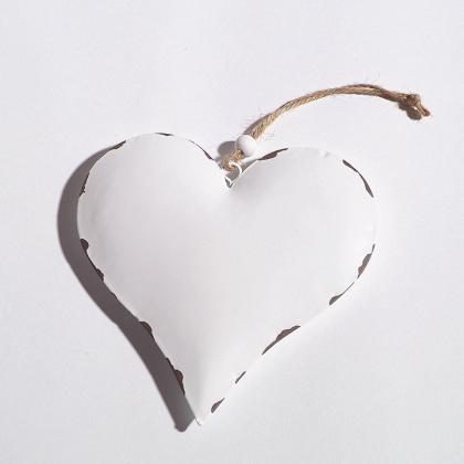 Srdce bílé na zavěšení Velikost: velké