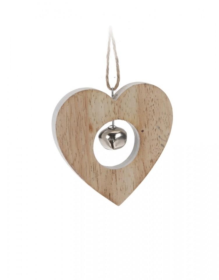 Závěsná dekorace s rolničkou Provedení: srdce