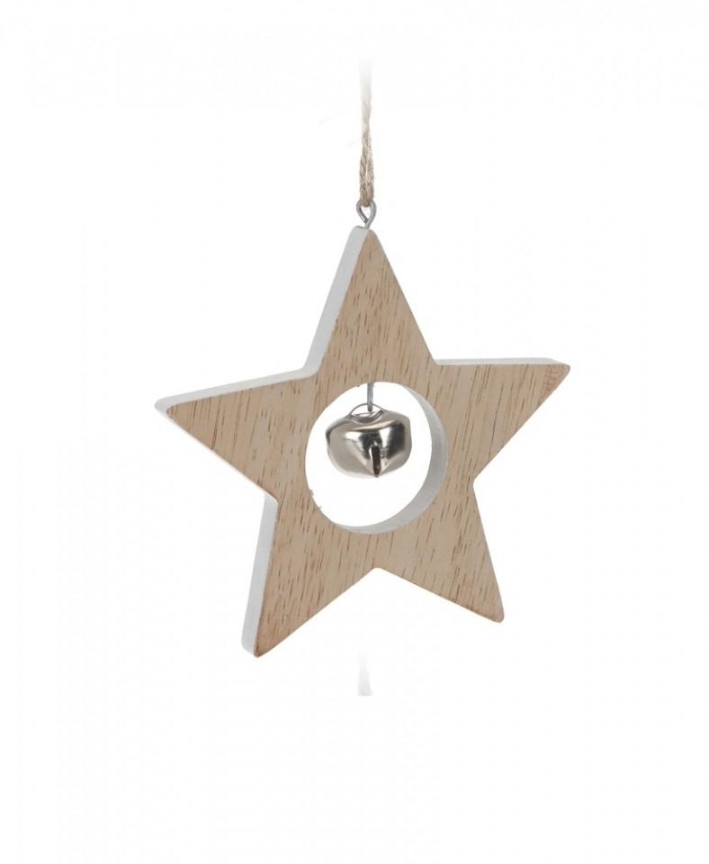 Závěsná dekorace s rolničkou Provedení: Hvězda