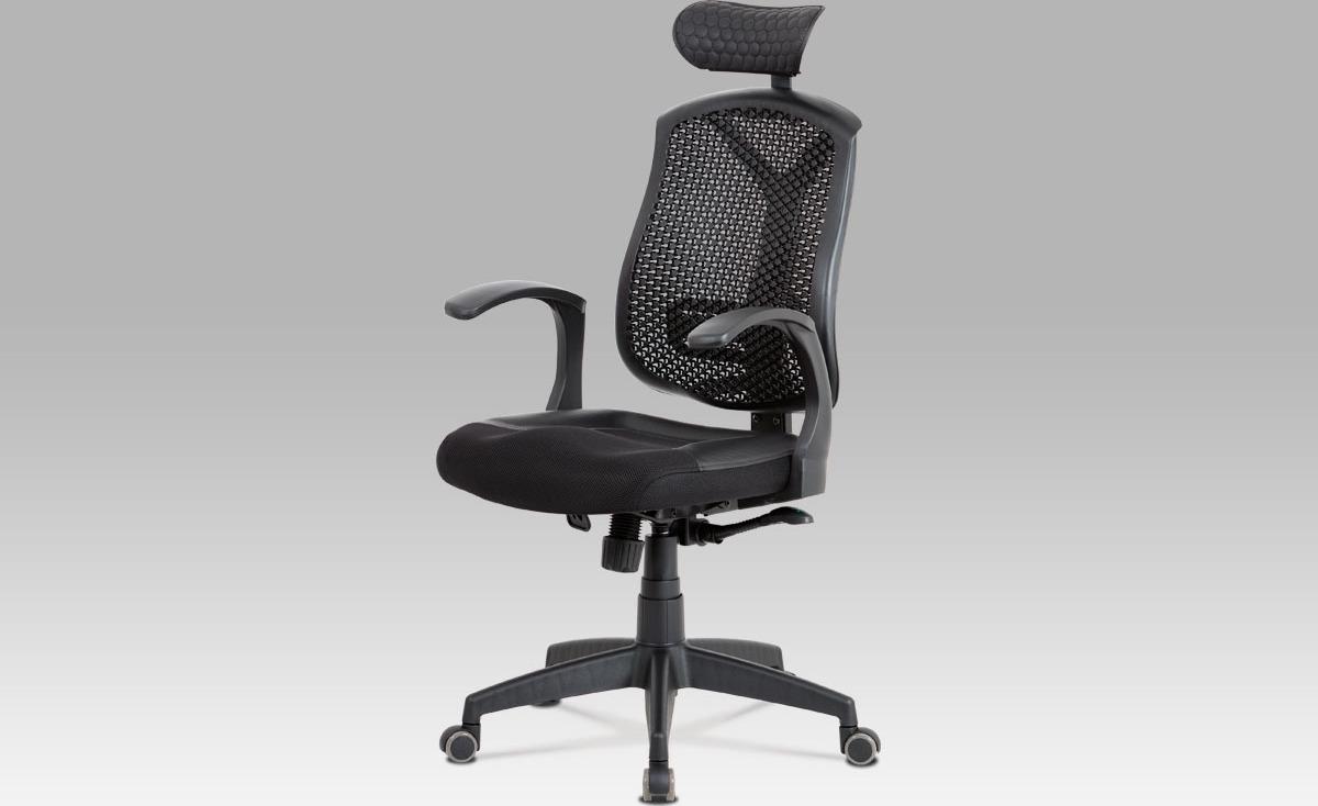 Kancelářská židle   synchronní mechanismus   černá MESH