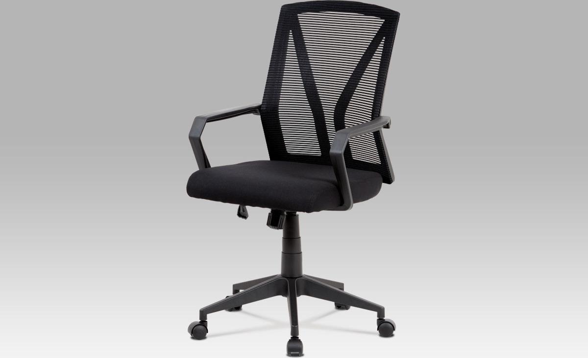 Kancelářská židle   černá mesh   plastový kříž