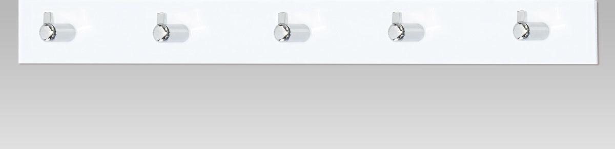 Nástěnný věšák - 5 háčků - bílý akrylát Barva: bílá