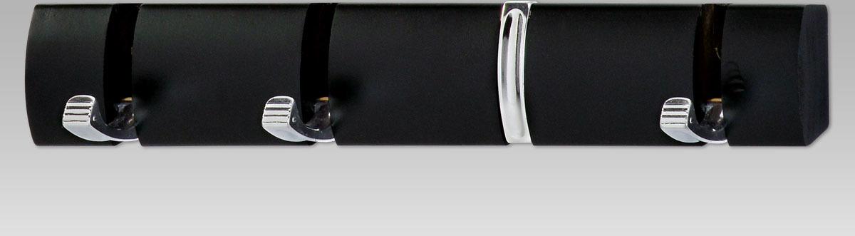Nástěnný věšák - 4 vyklápěcí háčky