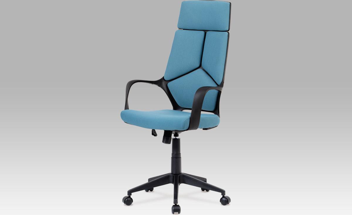 Kancelářská židle   látková   výškově nastavitelná Barva: modrá