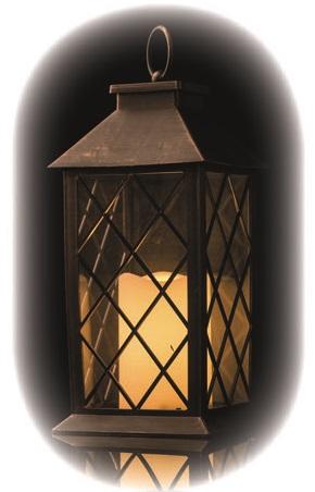 Anděl Přerov Lucerna kovová mřížkovaná LED světlo