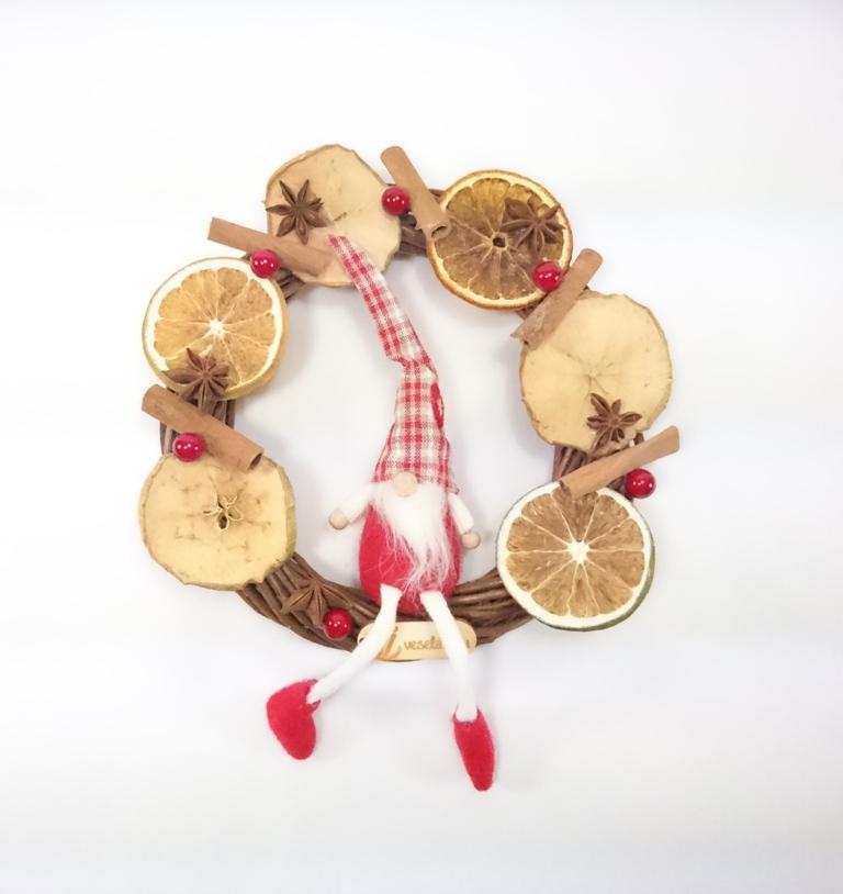 VESELÁ ŽENA Podzimní věnec | dekorační | 23cm