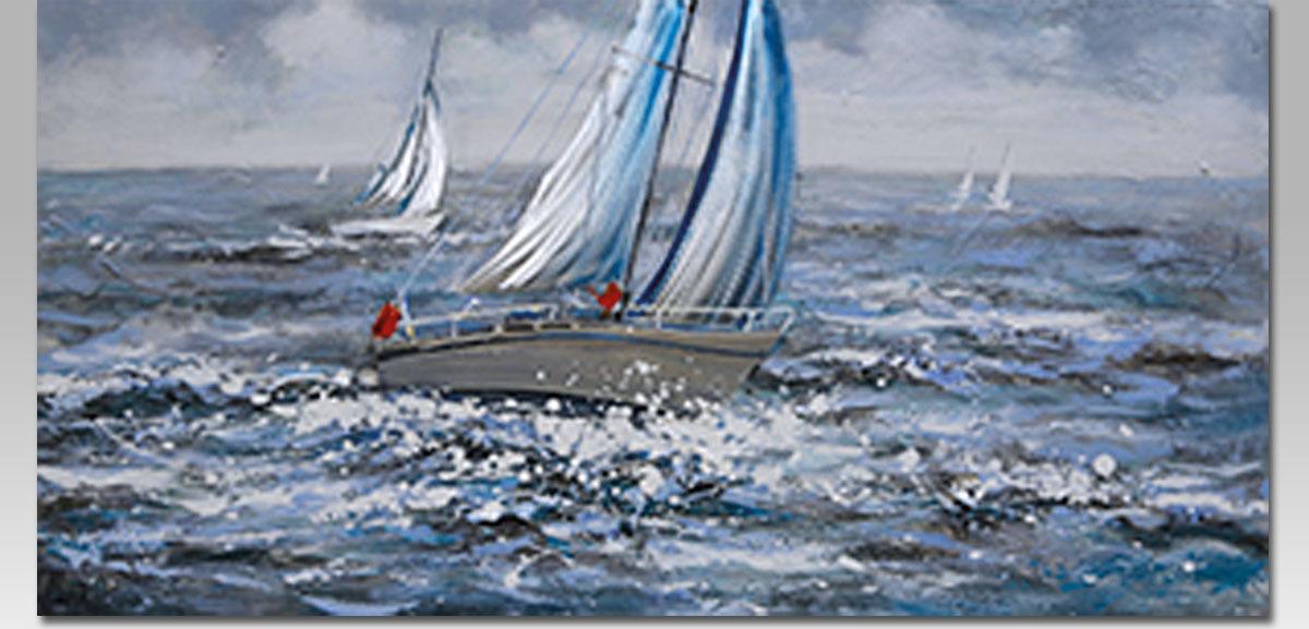 Obraz na plátně   olejomalba   ručně malovaný   Plachetnice
