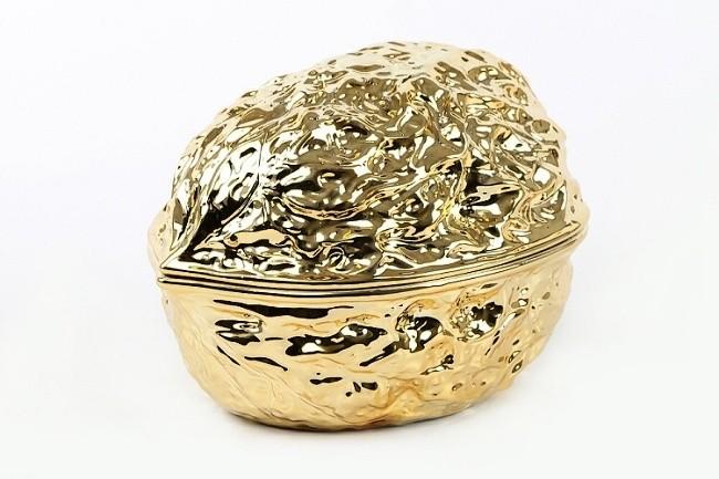 Miska skořápka ořechu Barva: zlatá, Provedení: Menší