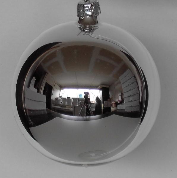 Slezská tvorba Skleněná koule | stříbrná | lesklá Velikosti: 8cm - 6 ks