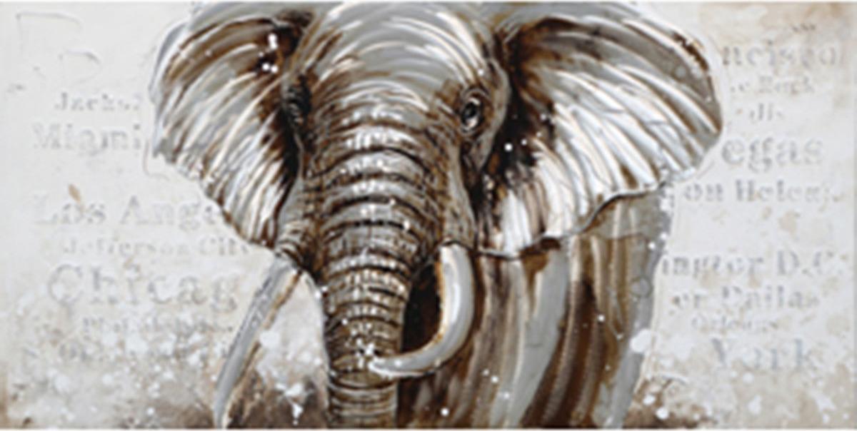 Obraz na plátně   olejomalba   ručně malovaný   Slon