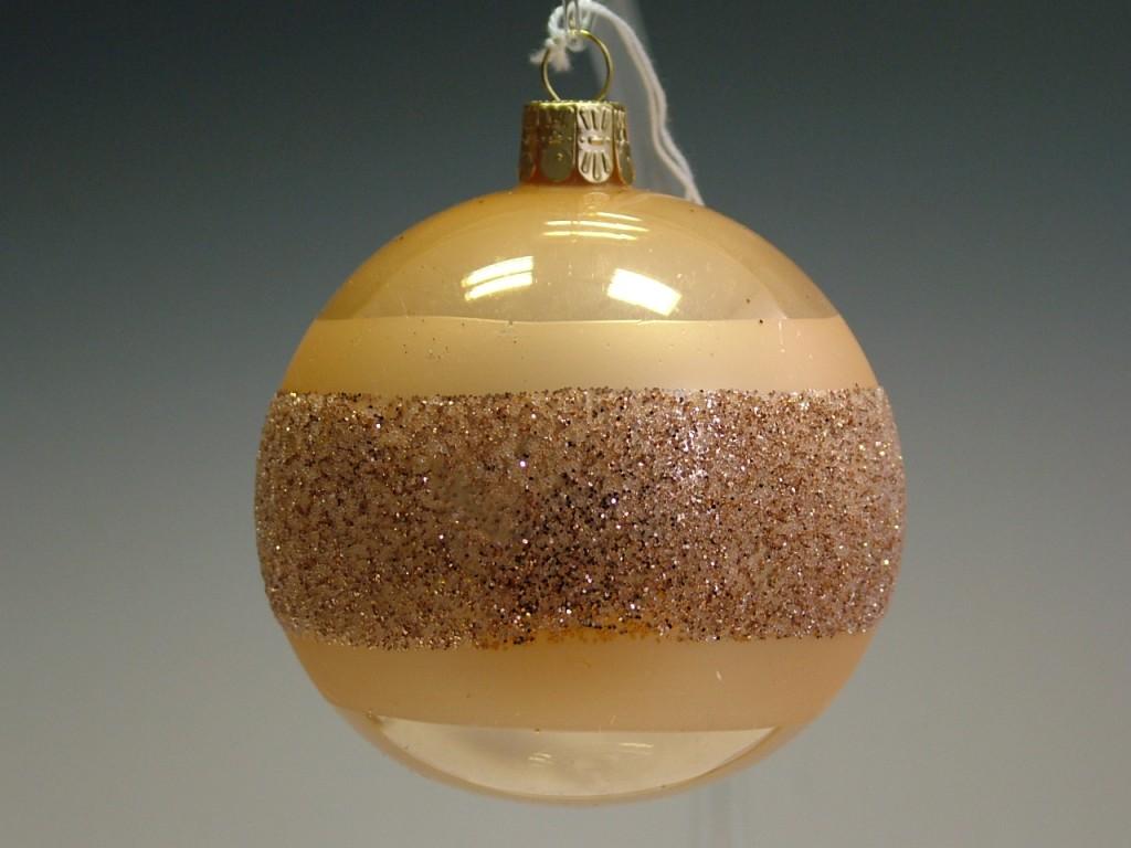 Slezská tvorba Skleněná koule | krémový porcelán | dekor Velikosti: 6cm - 6 ks