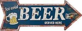Plechová cedule Beer Coffee Provedení: B
