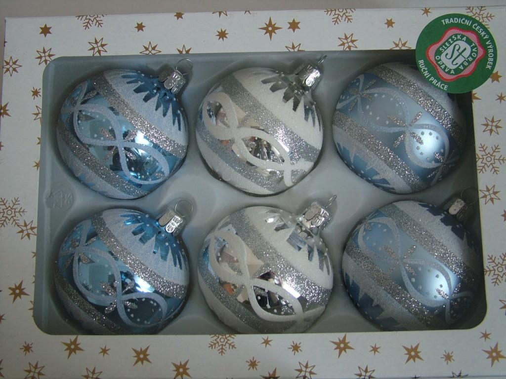 Slezská tvorba Skleněná koule   retro sada   dekor
