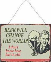 Plechová cedule Ice Cold Beer Provedení: B