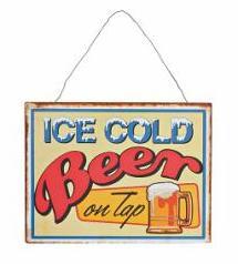 Plechová cedule Ice Cold Beer Provedení: A