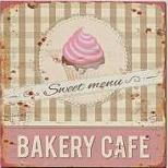 Plechová cedule Bakery cakes 30x30cm Provedení: B