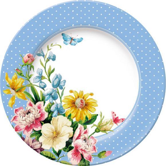 Creative Tops Dezertní porcelánový talíř English Garden | modrý