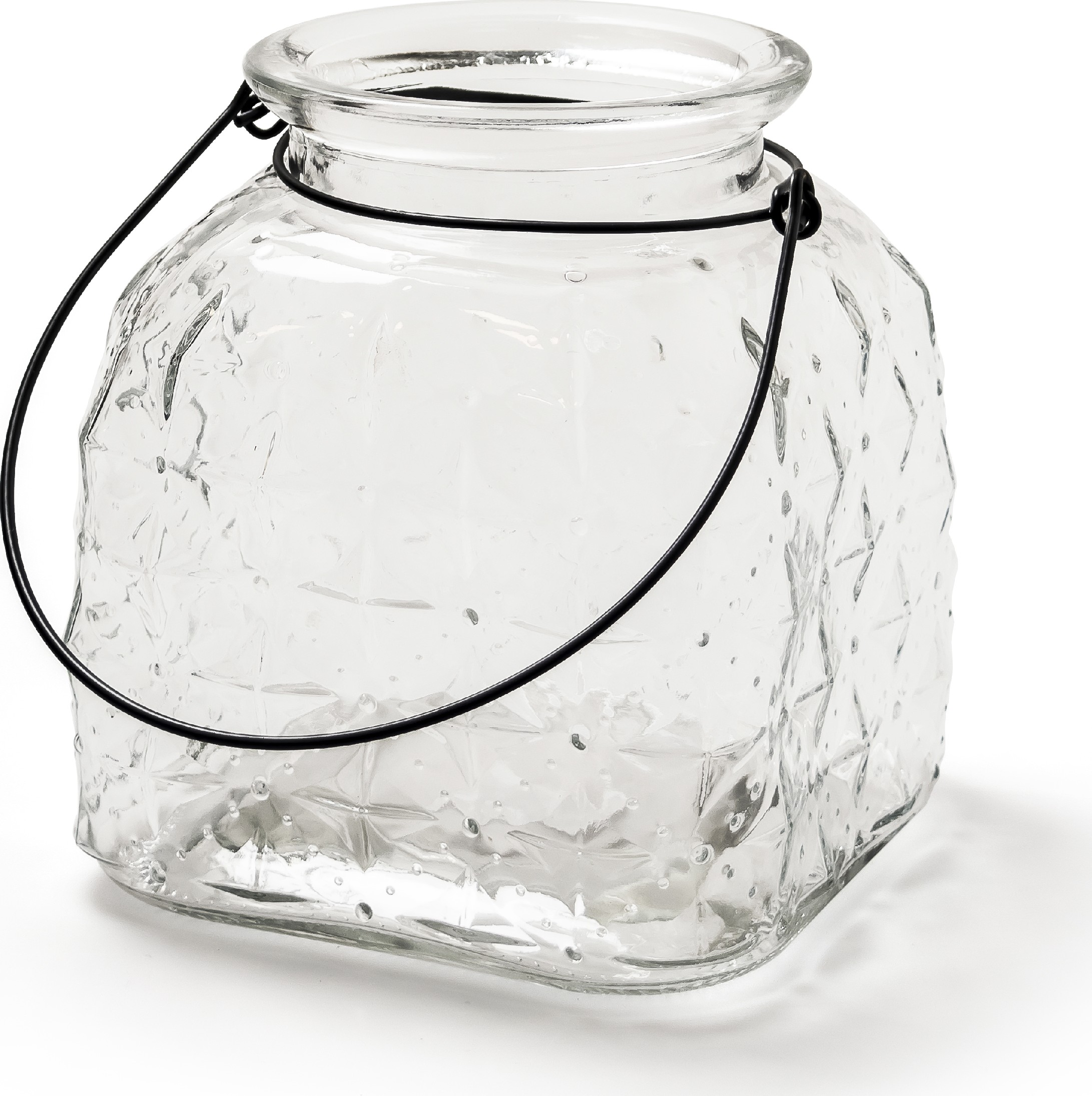 Skleněná váza na zavěšení střední
