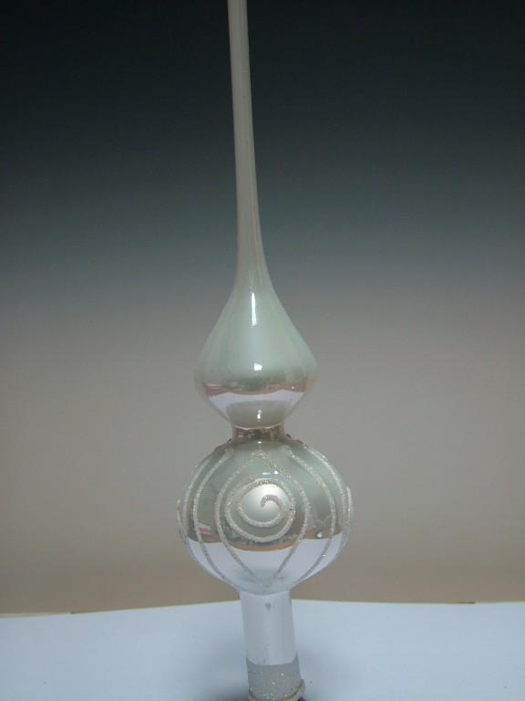 Slezská tvorba Skleněná špice | bílý porcelán | spirály Velikosti: 6cm