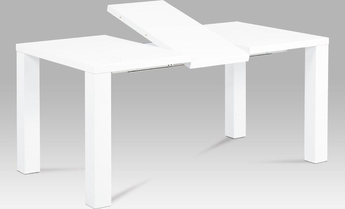 Jídelní stůl | rozkládací | vysoký lesk bílý