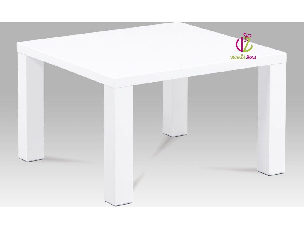Konferenční stolek bílý | vysoký lesk Velikost: menší