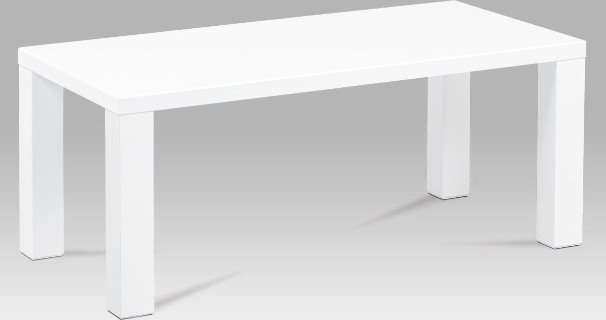 Konferenční stolek bílý | vysoký lesk Velikost: větší