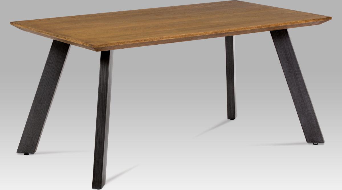 Artium Jídelní stůl | dýha dub | broušený kov