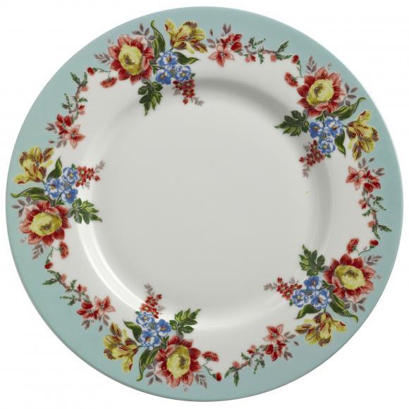 Obědový porcelánový talíř Amelia 27x27cm