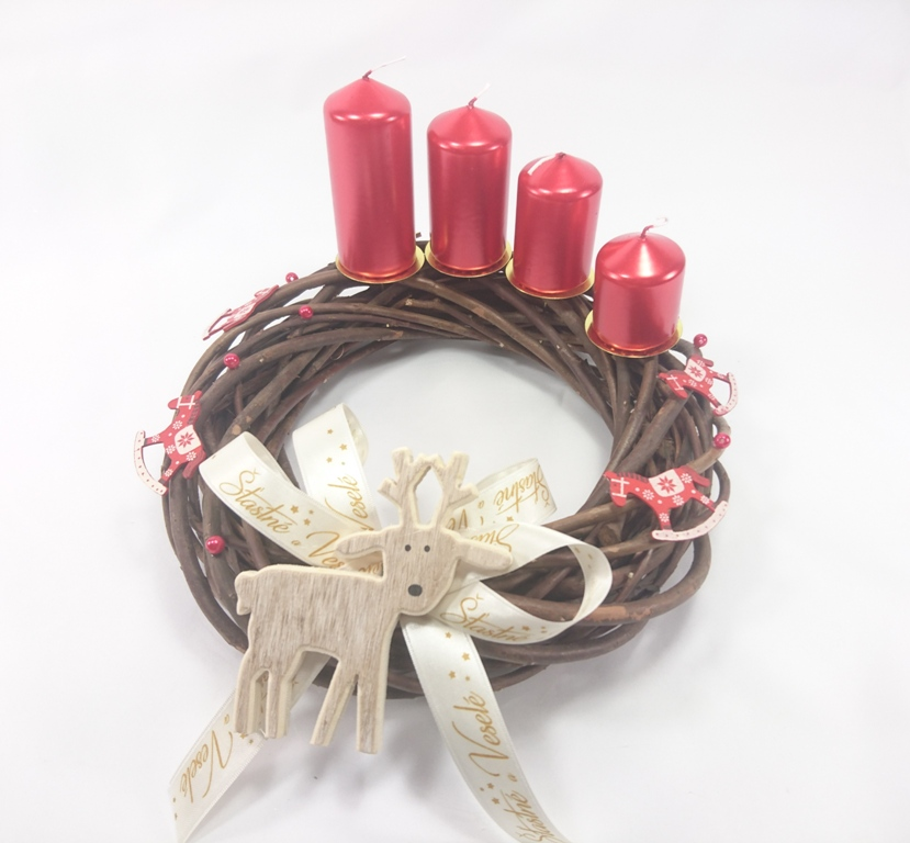 VESELÁ ŽENA vánoční věnec adventní | adventní svíčky kaskáda | sob