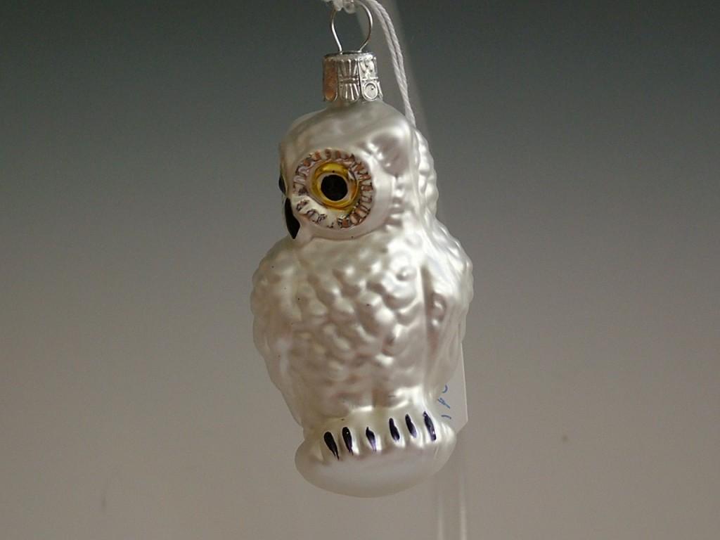 Slezská tvorba Skleněná figurka | sova | bílý mat Velikosti: 3 ks