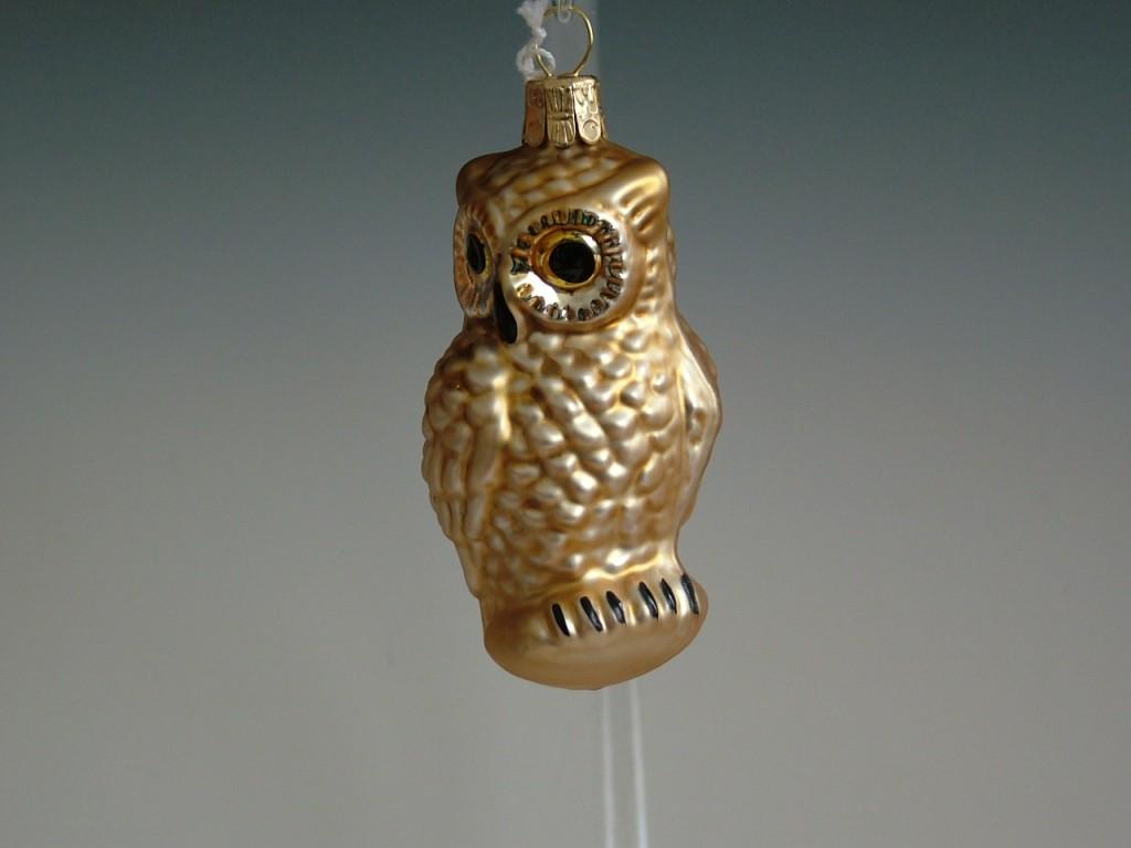 Slezská tvorba Skleněná figurka | sova | zlatý mat Velikosti: 1 ks