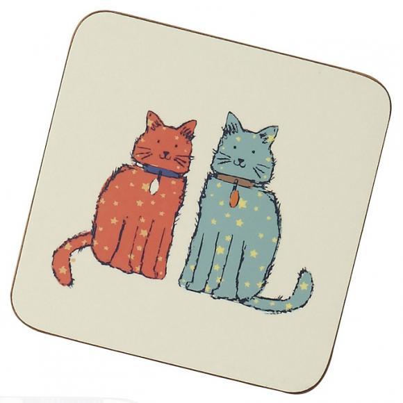 Creative Tops Korkové prostírání Cat Walk Rozměry: 10x10cm - 6ks