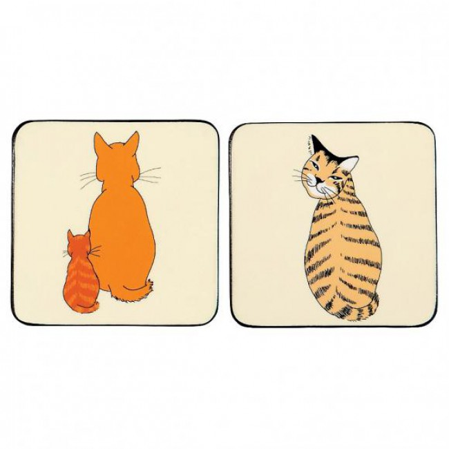 ID Korkové prostírání Cats In Waiting Rozměry: 10x10cm - 4ks