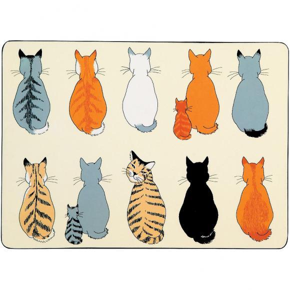 Korkové prostírání Cats In Waiting Rozměry: 21x29cm - 4ks