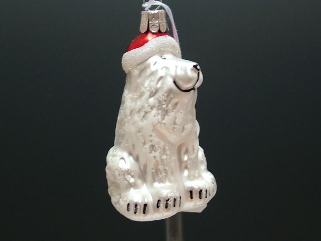 Slezská tvorba Skleněná figurka | pes s čepicí | červená Balení obsahuje: 1 kusů