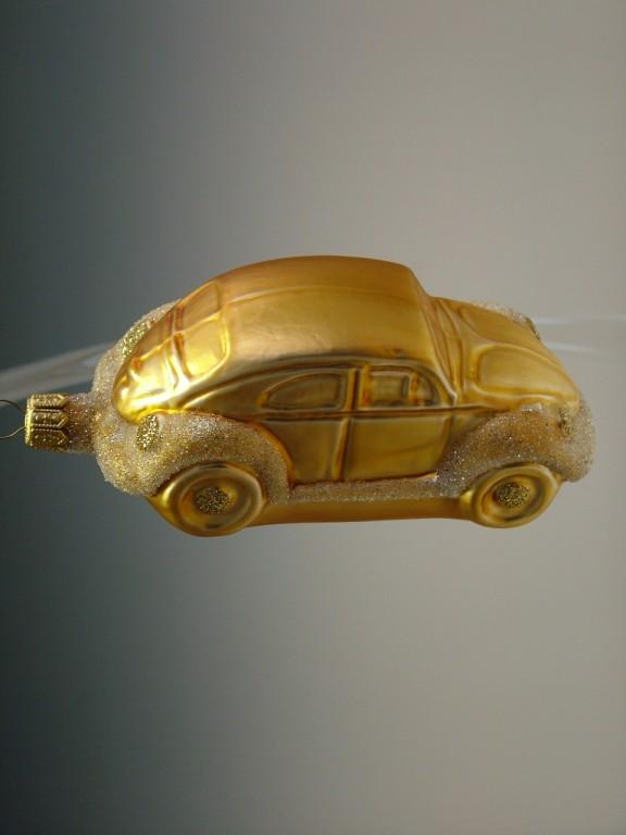 Slezská tvorba Skleněná figurka | zlaté auto brouk Balení obsahuje: 1 kusů