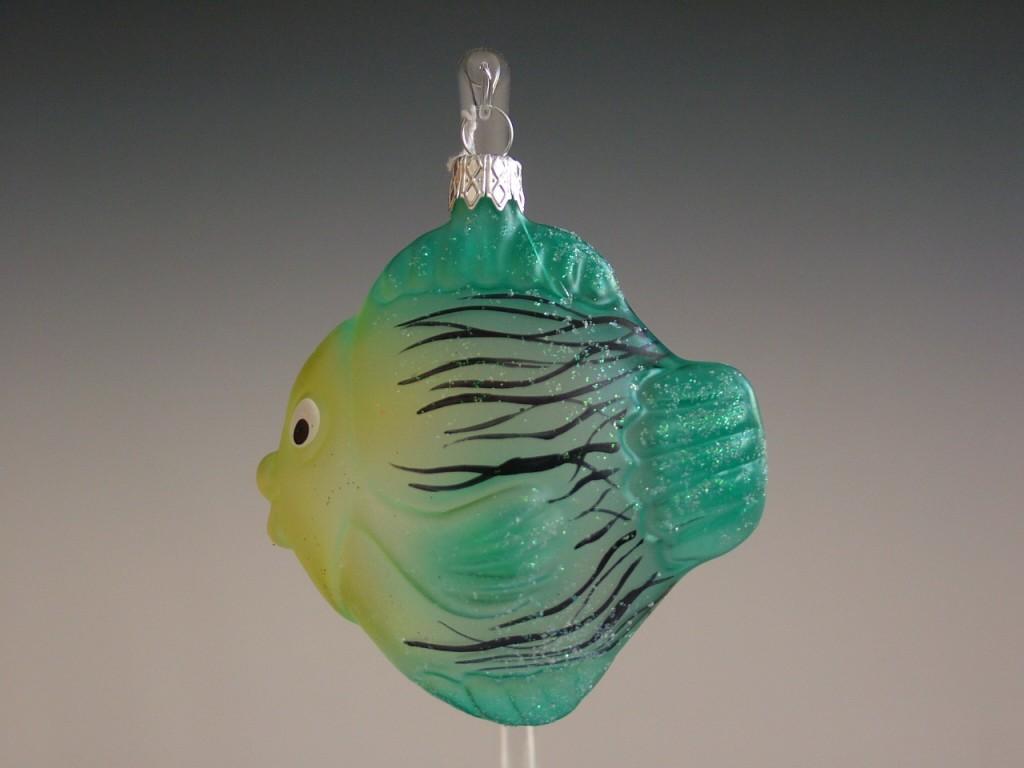 Slezská tvorba Skleněná figurka | kapr | zelenožlutý Balení obsahuje: 1 kusů