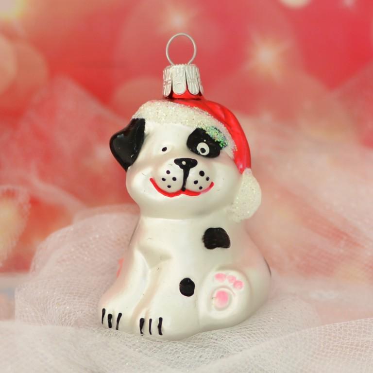 Slezská tvorba Skleněná figurka | pes s čepicí | barevný Balení obsahuje: 1 kusů