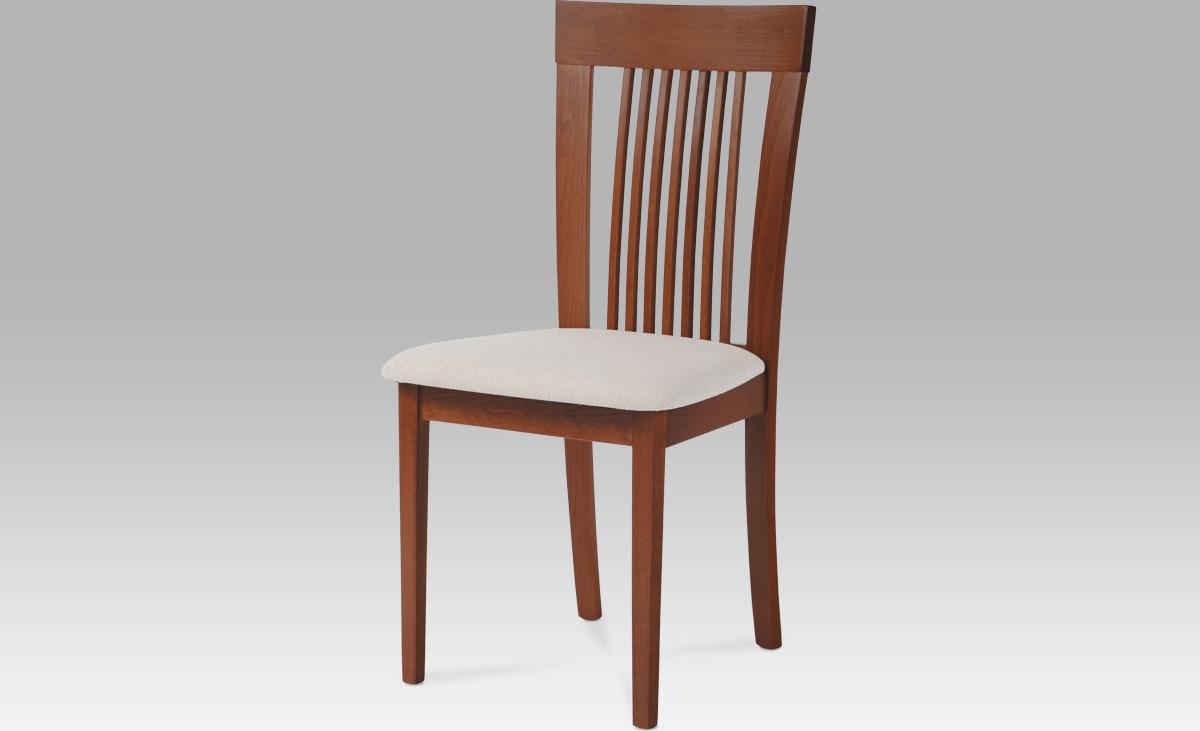 Jídelní židle | potah krémový Barva: třešeň